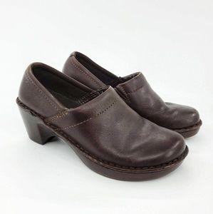 Eastland | Caldora Brown Leather Slip On Clog 7